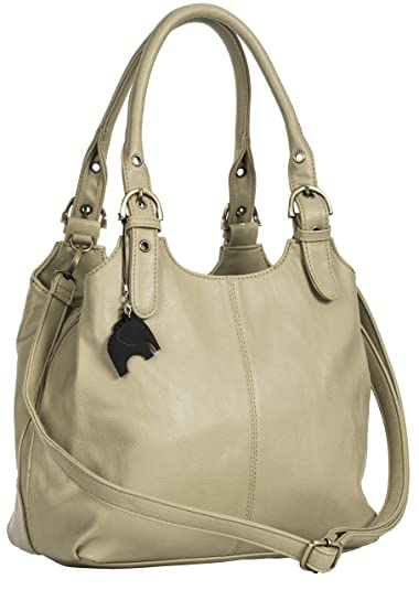 ac109e8d62 BHSL Womens Multiple Pockets Medium Size Long Strap Shoulder Bag - with a  Branded Protective Storage. Roll over image to zoom in. Big Handbag Shop