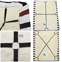 One set Crisscross Adjustable Bed/Fitted Sheet Straps Suspenders Gripper/Holder/Fastener -Keep your bed sheet in place!