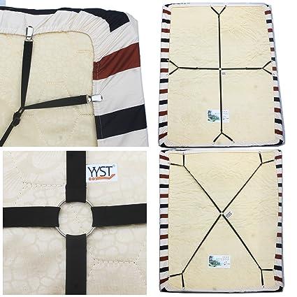 Superieur One Set Crisscross Adjustable Bed/Fitted Sheet Straps Suspenders  Gripper/Holder/Fastener