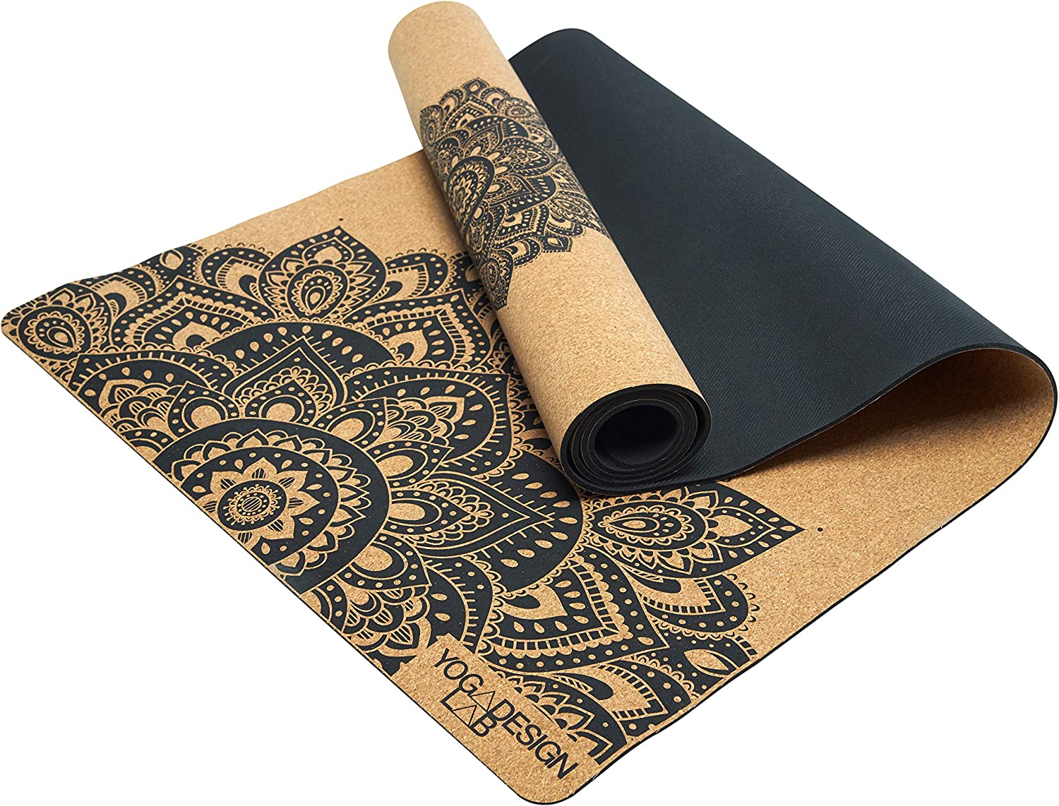 YOGA DESIGN LAB | The Cork Yoga Mat | Eco Luxury | Ideal for Hot Yoga, Power, Bikram, Ashtanga, Sweaty Workouts | Studio Quality | Includes Carrying ...