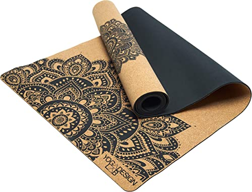 YOGA DESIGN LAB The Cork Yoga Mat Eco Luxury Ideal for Hot Yoga, Power, Bikram, Ashtanga, Sweaty Workouts Studio Quality Includes Carrying Strap