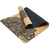 YOGA DESIGN LAB | The Cork Yoga Mat | Eco Luxury | Ideal for Hot Yoga, Power, Bikram, Ashtanga, Sweaty Workouts | Studio Quality | Includes Carrying Strap!