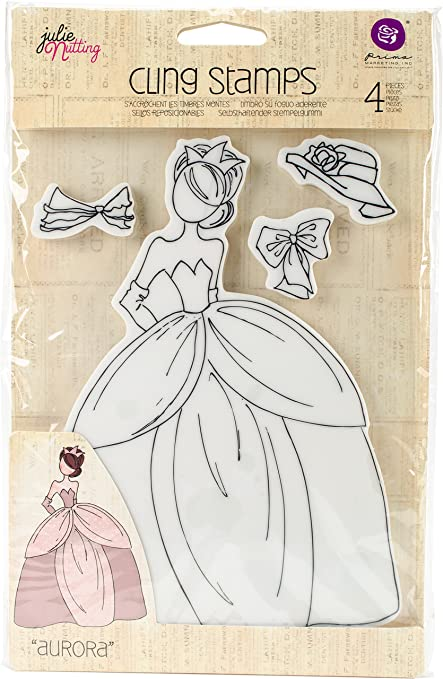 Prima Marketing Julie Nutting Mixed Media Jill Cling Rubber Stamps