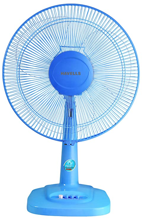 Havells Velocity Neo 400mm 55-Watt Table Fan (Blue) Table Fans at amazon