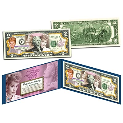 LUCILLE BALL * I Love Lucy - 100th Birthday * Legal Tender US $2 Bill *LICENSED: Toys & Games