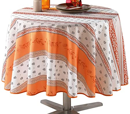 Le Jardin Des Cigales 180 Cm Table Cloth Printed Polyester