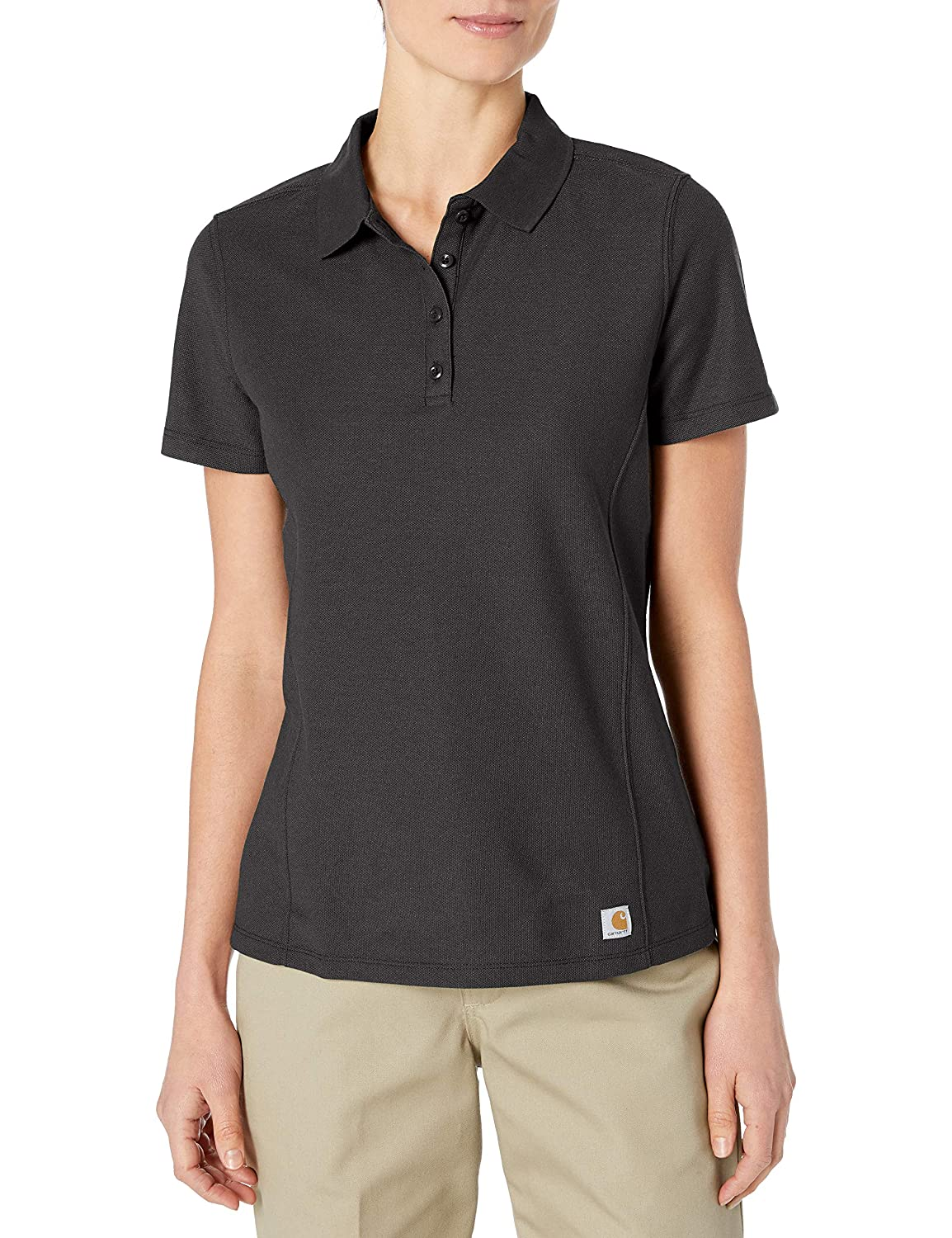 Carhartt Mujer - Manga Corta Playera - Negro - Medium: Amazon.es ...