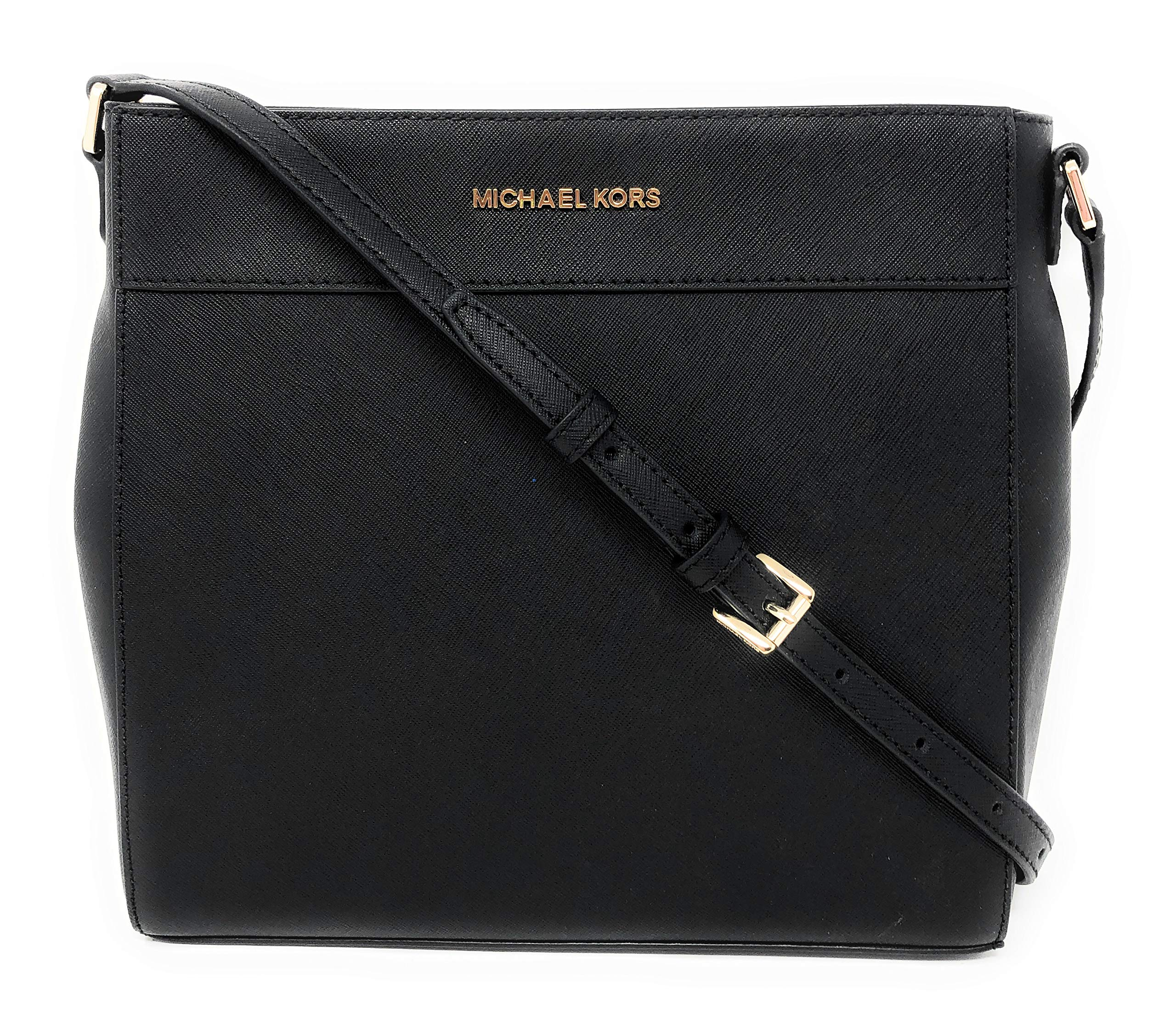Michael Kors Women's Jet Set Travel Messenger Crossbody Bag No Size (Black)