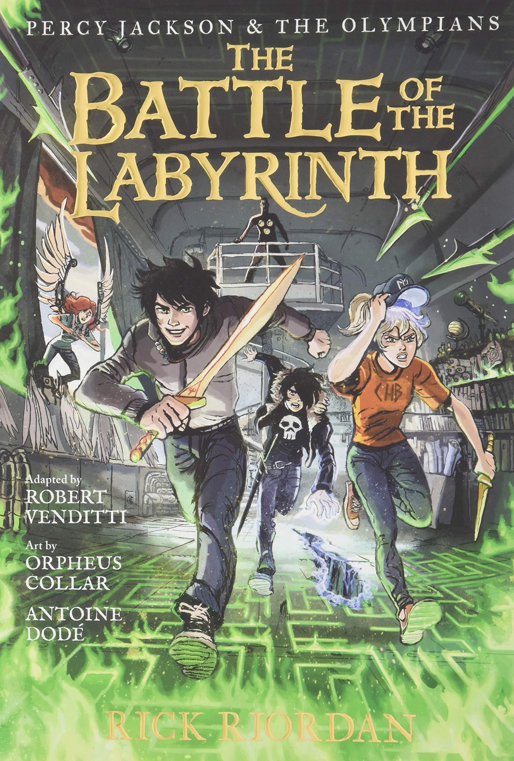 Percy Jackson and the Olympians the Battle of the Labyrinth: The Graphic Novel Percy Jackson and the Olympians : 4 Percy Jackson & the Olympians: Amazon.es: Riordan, Rick, Venditti, Robert, Collar, Orpheus: