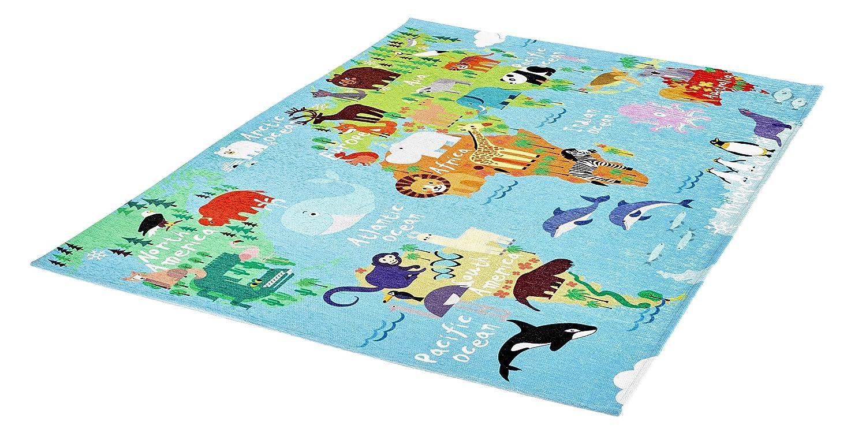 KADIMA DESIGN Kinder Teppich Teppich Teppich My Torino Kids 160 x 230 World map B07F3XPB5L Teppiche fd7c43