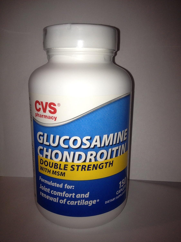 amazon com cvs glucosamine chondroitin double strength with msm