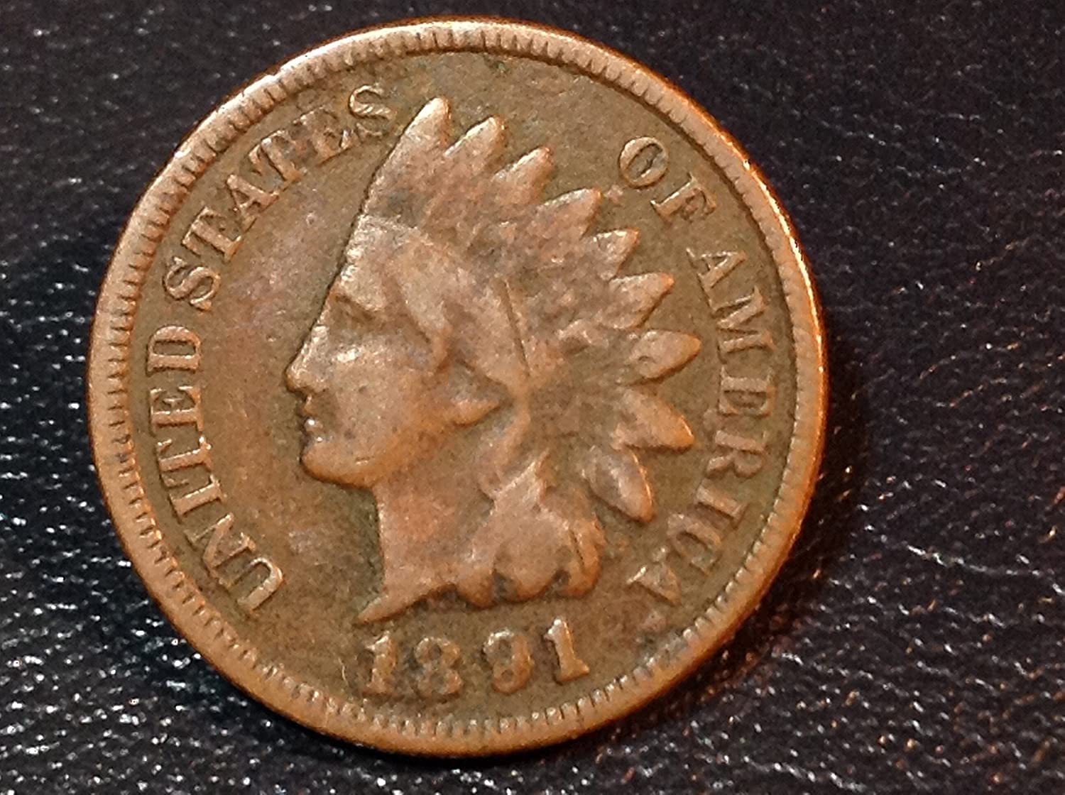 Penny Circulated Indian Head Cent 1891 U.S