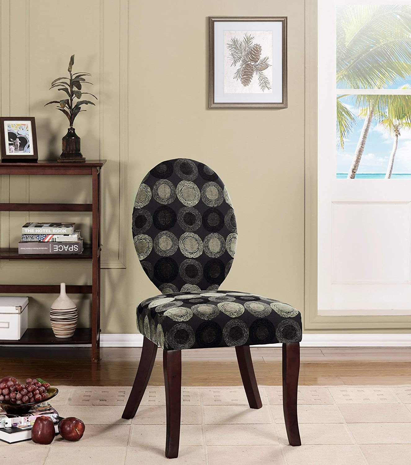 Kings Brand Furniture Accent Chair, Multicolor/Dark Cherry