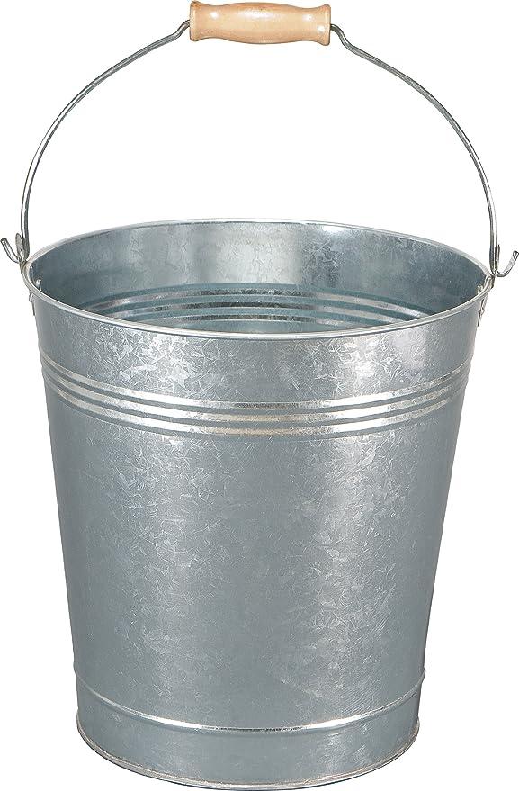 Heavy Duty Metal Bucket Galvanised Strong 9 litre Capacity for Fire Coal Garden