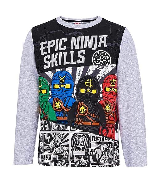 Amazon.com: LEGO Ninjago 270 T-Shirt (128) Gray: Clothing