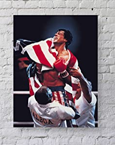 MeiMeiZ Rocky 4 Movie Poster Standard Size | 18-Inches by 24-Inches | Rocky Posters Wall Poster Print