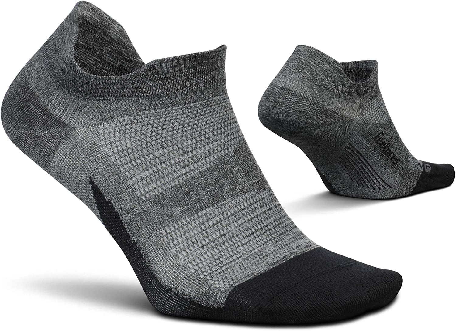 Feetures Unisex Elite Ultra Light No Show Tab Sock Solid