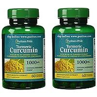 Puritans Pride 2 Pack of Turmeric Curcumin 1000 mg Puritans Pride Turmeric Curcumin 1000 mg-60 Capsules