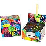 Scratch Off Mini Notes + 2 Stylus Pens Kit: 150...