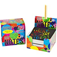 Scratch Off Mini Notes + 2 Stylus Pens: 150 Sheets of Black Note Paper with Rainbow Hologram Glitter Pattern for Kids Art and Craft Projects, Doodling & Lists - Perfect Gift Idea!
