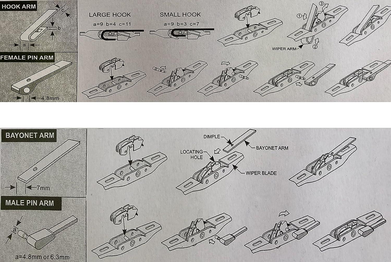 Melchioni 360001008 escobillas limpiaparabrisas 22, 550 mm, juego de 2: Amazon.es: Coche y moto
