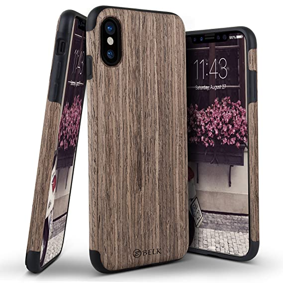 save off f44eb dffa4 iPhone X Case, B BELK [Air To Beat] Slim Soft Wood Bumper, Scratch  Resistant Non Slip Grip Lightweight TPU Snap Back Cover with Rubber Corner  Cushion ...