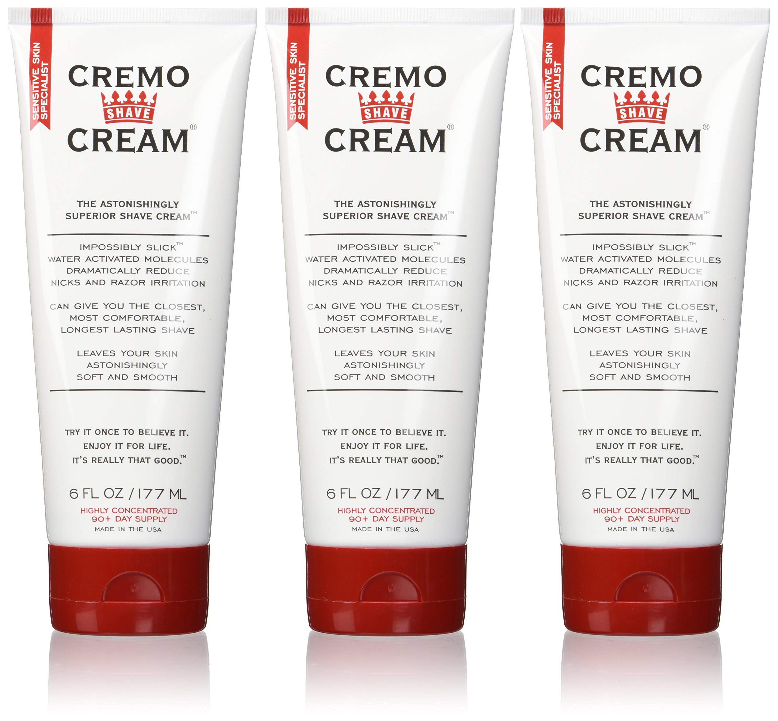 Cremo Original Shave Cream, Astonishingly Superior Shaving Cream for Men, 6 Fluid Ounce (3 Pack)