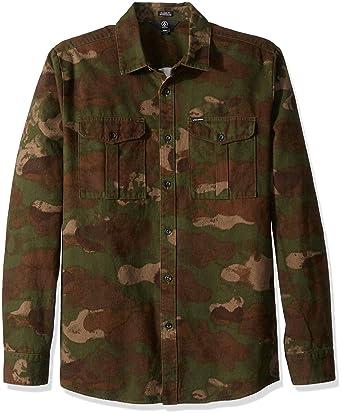 0f351d9a Amazon.com: Volcom Men's Hucker Long Sleeve Camo Button Up Shirt: Clothing