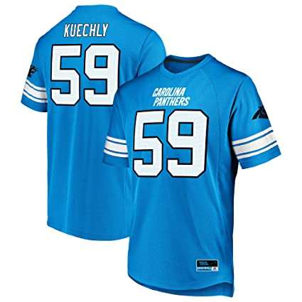 Majestic Luke Kuechly Carolina Panthers Blue Big   Tall Hashmark Jersey T- Shirt 2XL Tall 161ee9f9d