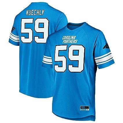 62693f132 Majestic Luke Kuechly Carolina Panthers Blue Big & Tall Hashmark Jersey  T-Shirt 2XL Tall