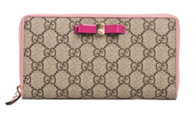 a164a95e0e8 Image Unavailable. Image not available for. Color  Gucci Leather GG Supreme  Moon Beige ebony ...