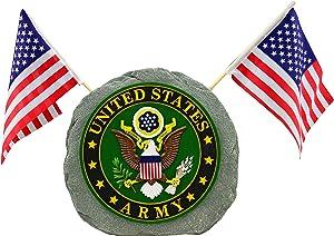 Red Carpet Studios Patriotic Military Garden Stone, Army