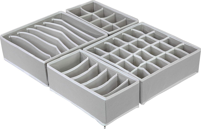 Simplehouseware Closet Underwear Organizer Drawer Divider Set Of 4 Grey Amazon Ca Home Kitchen