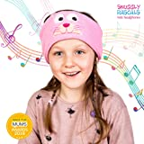 Snuggly Rascals Kids Headphones Over Ear Headband Earphones; Quiet, Volume Limited and Durable. Great for Travel, Use With iPad, iPhone, Samsung Tablet Computer. Suitable for Children (Cat)