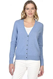 State Cashmere Women s 100% Pure Cashmere Button Front Long Sleeve V Neck Cardigan  Sweater 44fab0115