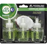 Air Wick Scented Oil Plug in Air Freshener, National Park Collection, American Samoa Scent, Triple Refills, 3 Count