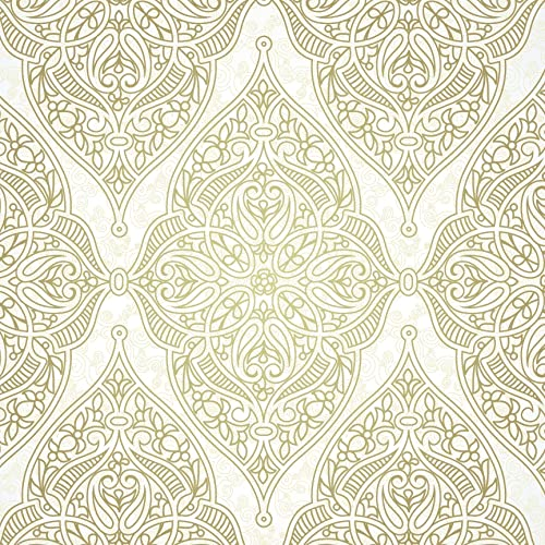 Boho Chic Damask Peel And Stick Wallpaper