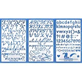 Aleks Melnyk #34 Metal Journal Stencils/Alphabet Letter Number, ABC/Stainless Steel Stencils Kit 3 PCS/Templates Tool…