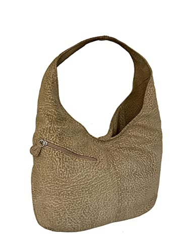 67d54982aec6 Amazon.com  Fgalaze Camel Suede Leather Hobo Bag with Pockets ...