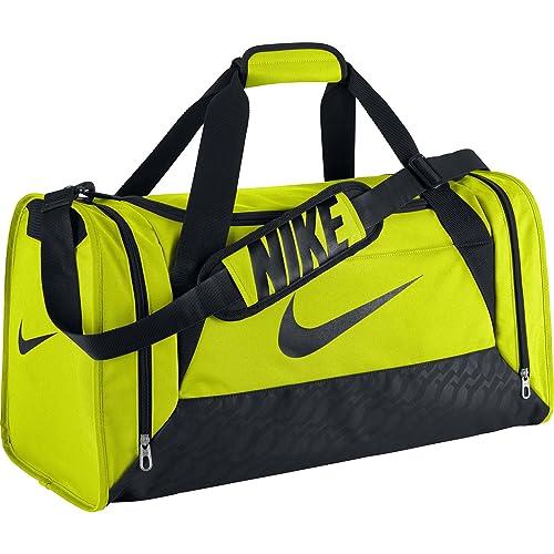 dca709498a99 Amazon.com  Nike Brasilia 6 Medium Duffel Bag (Volt Black Black ...