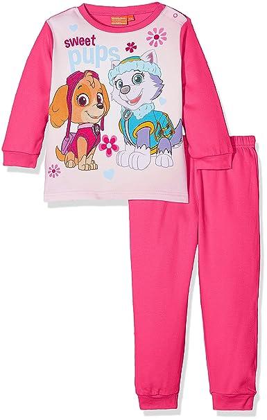 Nickelodeon Paw Patrol Colorful Sweet Pups, Conjuntos de Pijama para Bebés, Rosa (Fushia