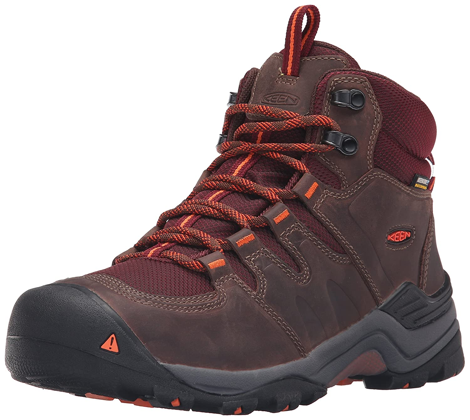 KEEN Women's Gypsum Ii Mid Wp-w Boot B019FCXK6E 9 B(M) US|Cocoa/Tiger Lilly