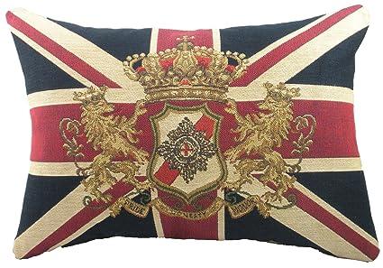 Evans Lichfield - Cojín (45,7 x 33 cm), diseño de bandera ...