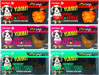 product image for ETTA SAYS! Yumm Crunchy Chew Bars for Dogs - All Natural Premium Chew Bars - Made in The USA