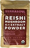 Red Reishi Mushroom Powder 4:1 Extract (Organic), 11 Ounces
