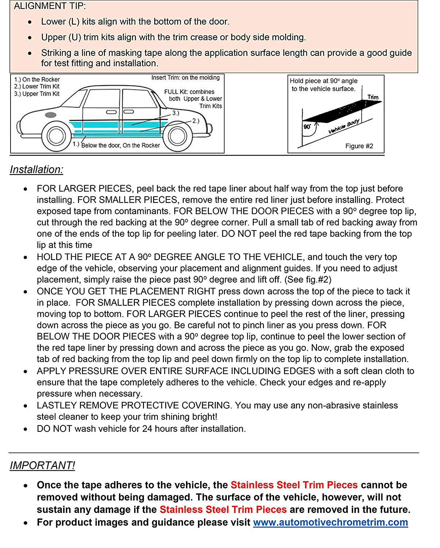 TH47090 4 Piece Stainless Rocker Panel Trim, On The Rocker, 3.5 Width QAA fits 2007-2018 Jeep Wrangler JK