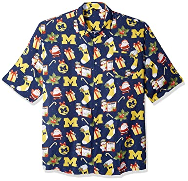 f0655c71 Amazon.com : NCAA Mens Floral Button Up Shirt : Sports & Outdoors