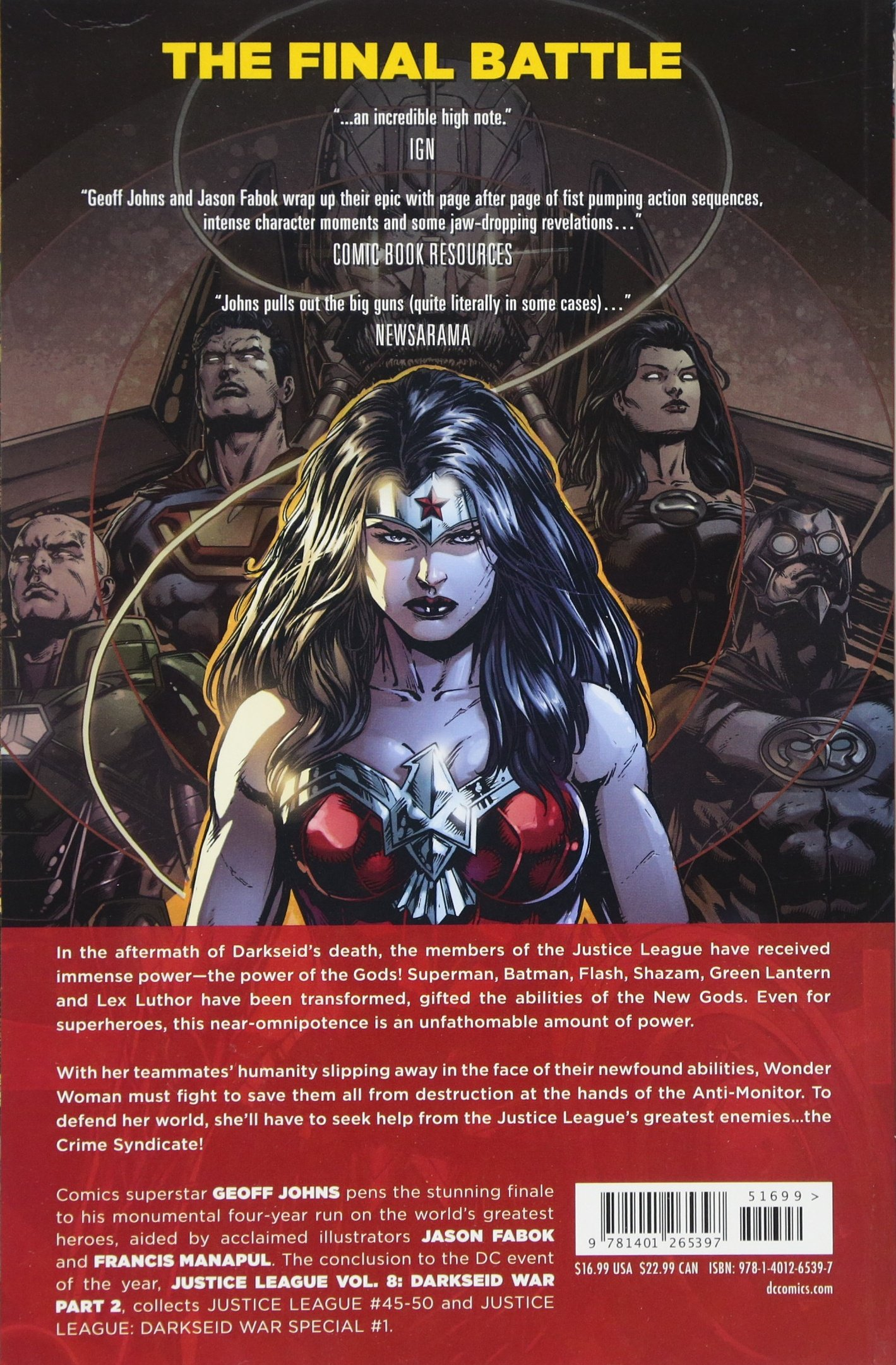 Justice League Vol  8: Darkseid War Part 2: Geoff Johns, Jason Fabok