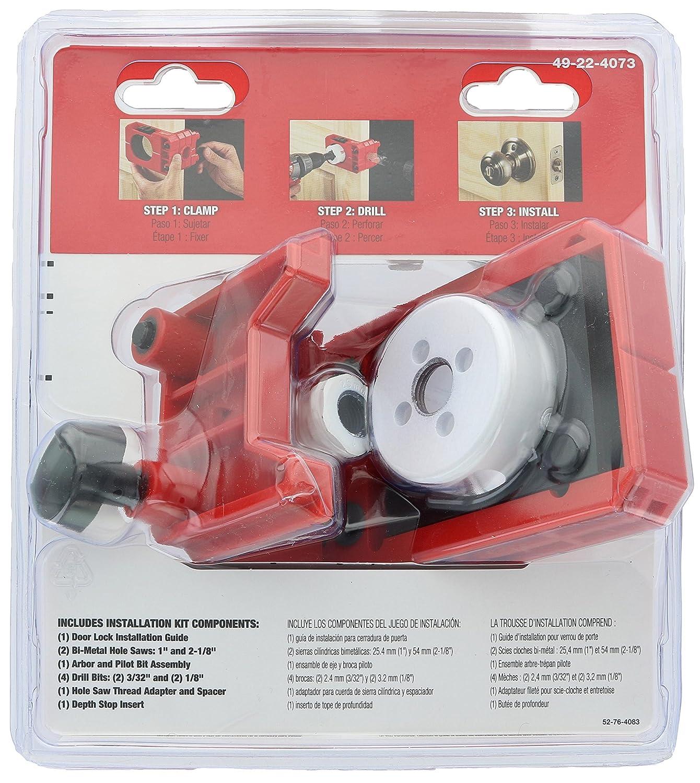 Kit de instalación de cerraduras para puertas Milwaukee 49-22-4073: Amazon.es: Hogar