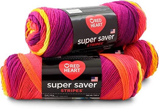 RED HEART Super Saver Yarn-Fruity Stripe